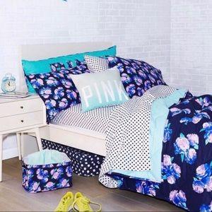 PINK Victoria's Secret Blue Floral Bed Set