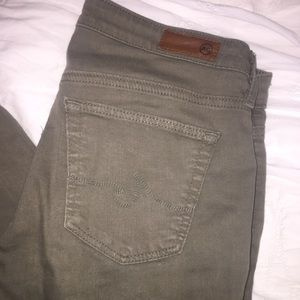 AG green cropped jean