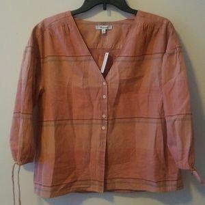 NWT Madewell Plaid shirt-XS