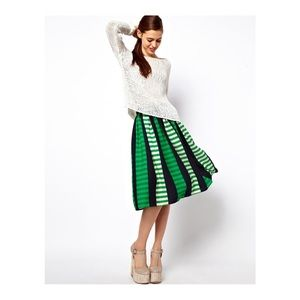 ASOS midi striped skirt