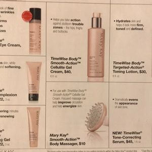 Smooth-action cellulite gel creams with massagers