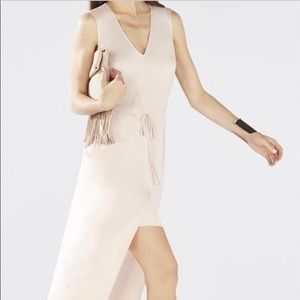 Pale pink Bcbg maxi dress with pockets.