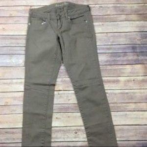 American Eagle Tan Skinny Jeans Sz 2