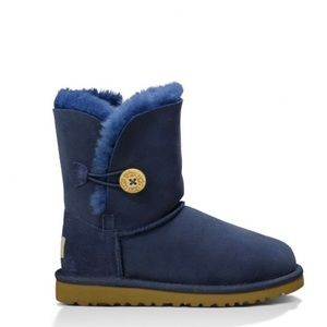 UGG Toddler Girls Bailey Button Boots Sz 7 Navy