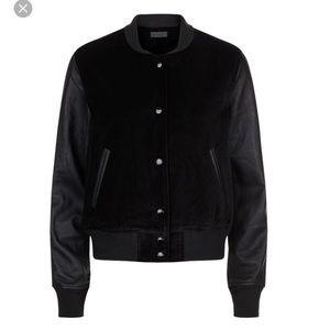 Rag & Bone Camden Velvet & Leather Bomber Jacket