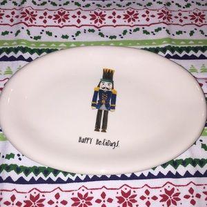 """NEW!! Rae Dunn """"happy holidays"""" nutcracker dish"""