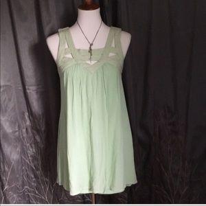 💥Daytrip mint green sleeveless shift dress