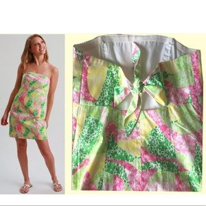Lilly Pulitzer 6 Franco dress, yellow green pink