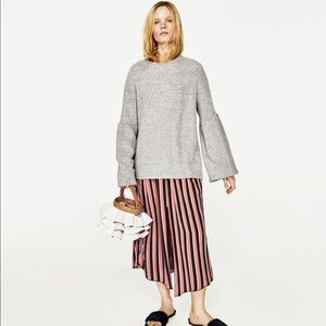 Zara bell sleeve sweatshirt