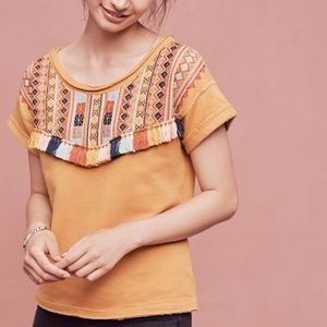 NEW Anthro x Chole Oliver Valencia Tassel Top