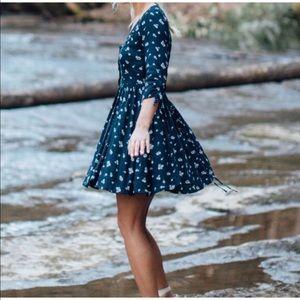 Hollister navy blue dress