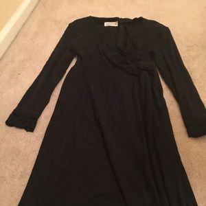 Vintage L/S Black Maxi Dress
