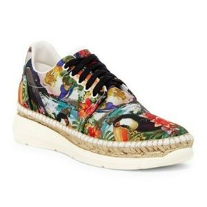 RARE Free People Jackson Sneaker Tropical Shoe NIB