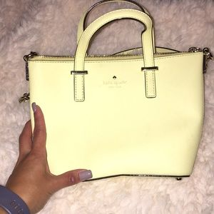 Yellow crossbody Kate Spade small tote