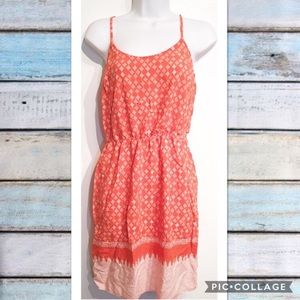 Old Navy Printed Coral Casual Dress