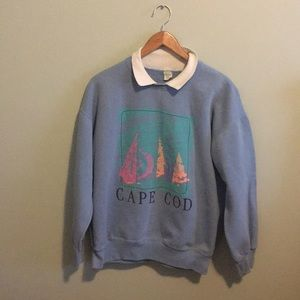 Vintage Cape Cod Collared Sweatshirt