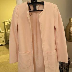 Blush colored pea coat