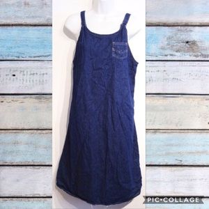 VTG 90s Denim Overall Grunge Dress