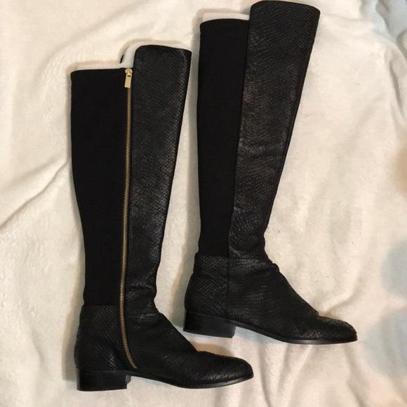 Michael Kors Black Snakeskin Boots