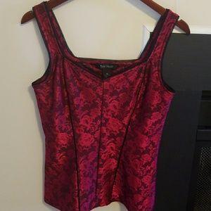 White house black market corset- like top