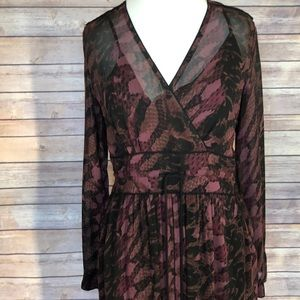 "NWT ""Wrap"" brand Maxi Dress in Fall Colors."