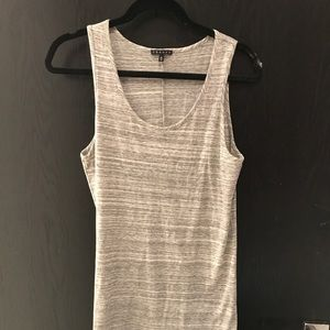 Theory cotton gray dress. Worn once. Size M