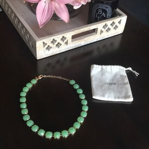 J. Crew Green Stone Collar Necklace