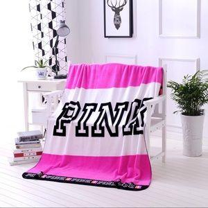 NEW!! VS Pink Throw Blanket