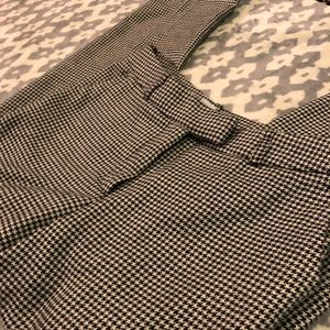 H&M Houndstooth Straight Leg, Cuffed Trousers