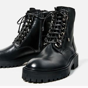 Zara Boots with Chains
