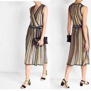 DVF Metallic Wrap Dress / Vest