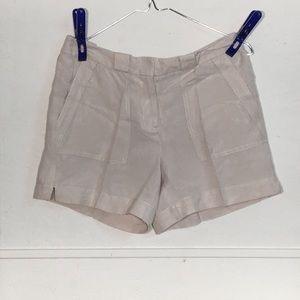 White House Black Market Linen blend shorts