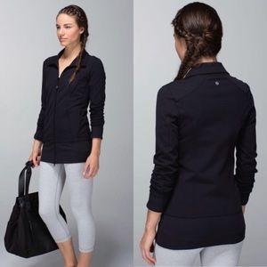 Lululemon♥️Nice Asana Black Luon Yoga Jacket