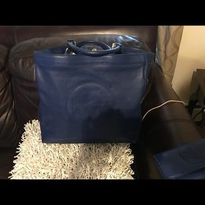 Tory Burch Blue bag with wallet