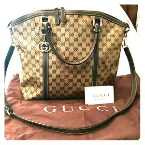 Authentic GUCCI Tote Bag Purse Coated Crystal