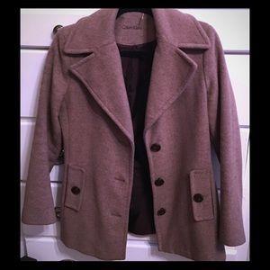 Calvin Klein Wool and Silk  Blend Coat