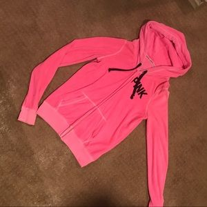 Worn Once VS Neon Barbie Pink Hooded Sweater S