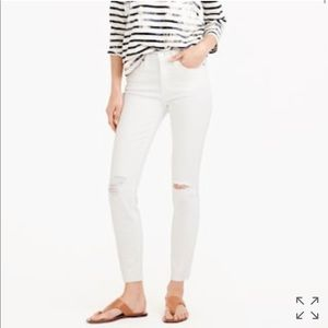 J. Crew High Rise Cropped Skinny Fit Jeans