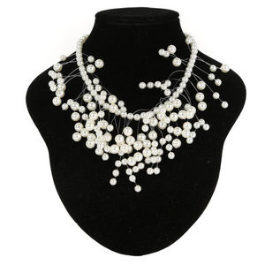 OFF WHITE Elegant Simulated Pearls Necklace