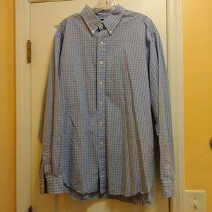 Ralph Lauren Mens Shirt Sz 18/XXL Button Front