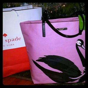 Kate Spade ♠ Swan Canvas Tote