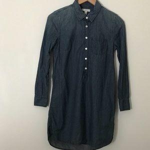 J. Crew Denim Shirt Dress Size 2