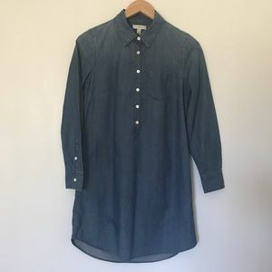 J. Crew Denim Shirt Dress Size 2