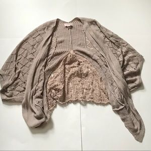 Forever 21 Size M Brown Lace Shrug