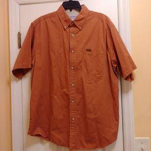 Carhartt Men's Shirt Size L Burnt Orange