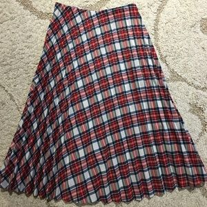 Vintage plaid pleated skirt women's medium