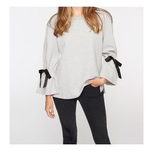 Sanctuary tierney sweatshirt with ribbon detail