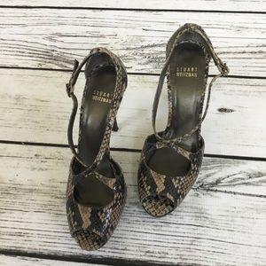 Stuart Weitzman snakeskin platform heels
