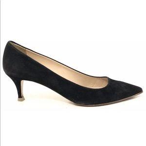 "J. Crew Women's Black Suede ""Esme"" Kitten Heels"