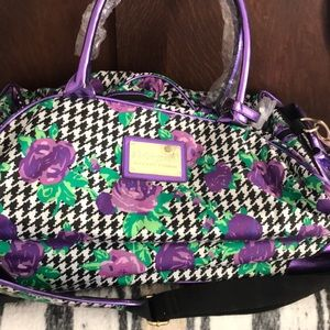 Rolling Betsy Johnson overnight bag